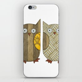 4 Gold Owls iPhone Skin