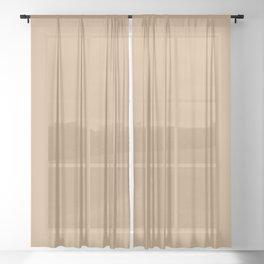 Solid Color - Pantone Sand 15-1225 Tan Beige Sheer Curtain