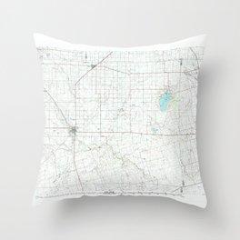 TX Seminole 124034 1992 topographic map Throw Pillow
