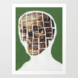 Skull-Saic Art Print
