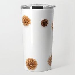 pine cones isolated on a white background Travel Mug