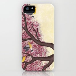 spring goldfinches iPhone Case