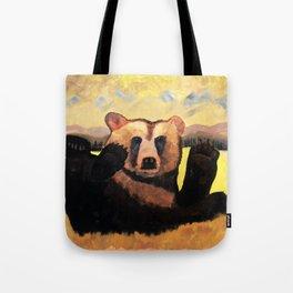 """Yellowstone Moonlight""  Tote Bag"