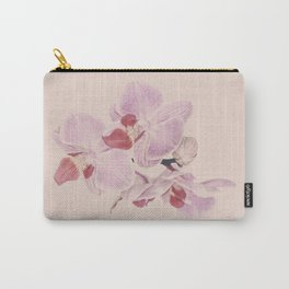 Matte Pink Orchid Flower Carry-All Pouch