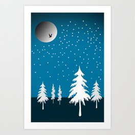 Starflakes - Winter Art Print