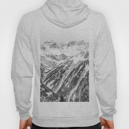 Snow white and black forest Hoody