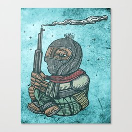 Zapatist mexican soldier Canvas Print