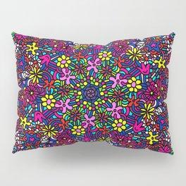 Flower Power Doodle Art Pillow Sham