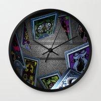 persona Wall Clocks featuring Persona Tarot Cards by KeenaKorn