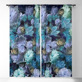 """Baroque floral with bugs"" Blackout Curtain"