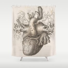 The Back Of The Heart Shower Curtain