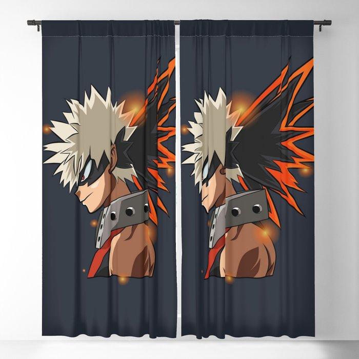 Katsuki Bakugou Blackout Curtain By Dollarman1308