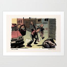 Beach Cop Detectives 11 - Hit & Run Art Print