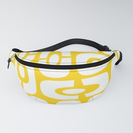 Mid Century Modern Cosmic Abstract 232 Yellow Fanny Pack