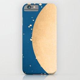 Paint Spatter Sun - Orange Sherbet Shimmer on Saltwater Taffy Teal iPhone Case