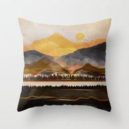 Pure Wilderness at Dusk Throw Pillow
