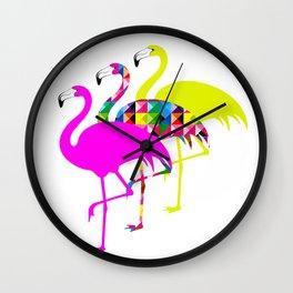 Flamingo Fest Wall Clock