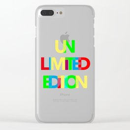 Unlimited Edition Clear iPhone Case