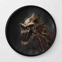 teeth Wall Clocks featuring Teeth by Anne the Viking