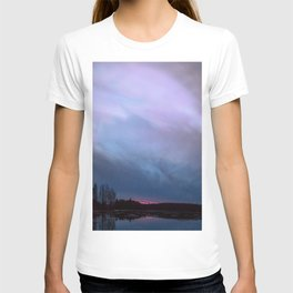 Sunset in winter evening T-shirt