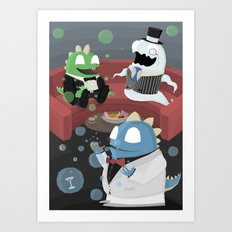 Bubble Bobble Cocktail Party Art Print
