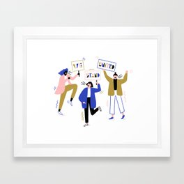 Women's March Framed Art Print