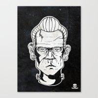 frankenstein Canvas Prints featuring Frankenstein by Diseños Fofo