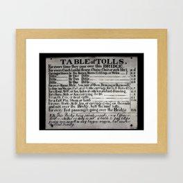 The Ironbridge Tolls Framed Art Print