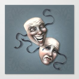 Comedy Tragedy Theater Masks Canvas Print