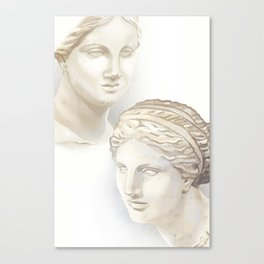Dueling Aphrodites Canvas Print