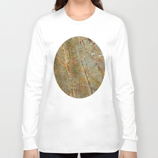 Forest Green Marble Long Sleeve T-shirt