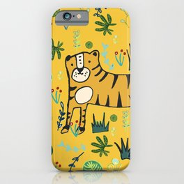 Jungle Tiger Yellow iPhone Case