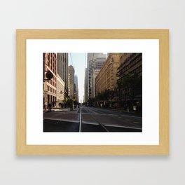 San Fransisco streets lead somewhere.  Framed Art Print