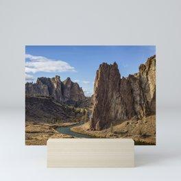 River and Rock Mini Art Print