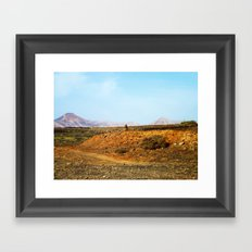 Stones and Mountains Framed Art Print
