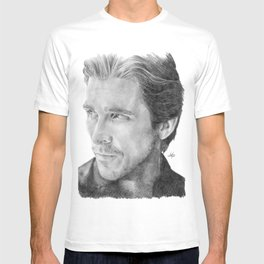 Christian Bale Traditional Portrait Print T-shirt