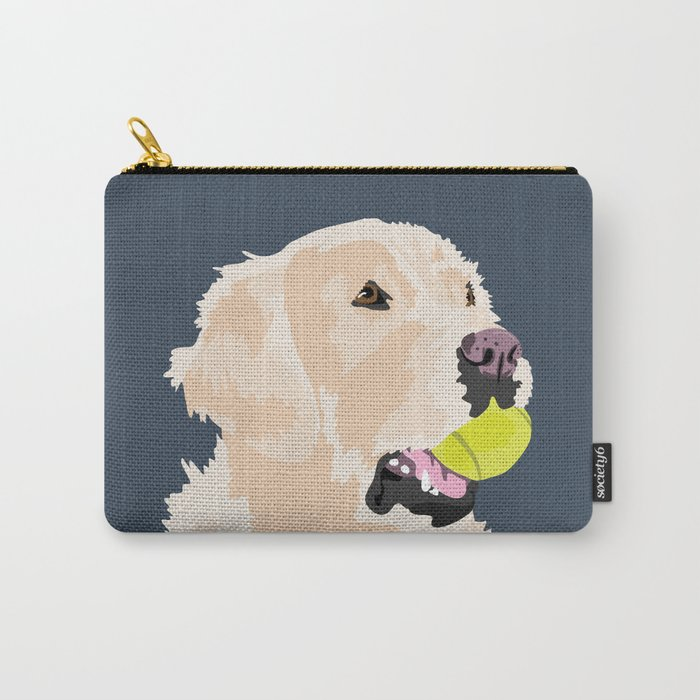 Golden Retriever with tennis ball Tasche
