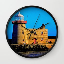 Howth Lighthouse Morning Wall Clock