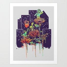City of Flower Art Print