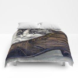Kitten in a Shoe Comforters