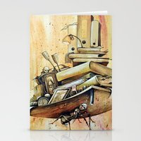 school Stationery Cards featuring school by Andreas Derebucha
