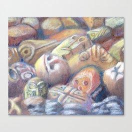 Rix Ciba Kansi - Red Sweatlodge Rocks Canvas Print