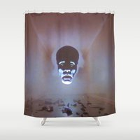 supreme Shower Curtains featuring Supreme Being by Adrian Sipe