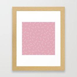 Pink Boobs Breast cancer awareness sisterhood power Framed Art Print