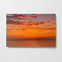 Sunset over Canary Islands Metal Print