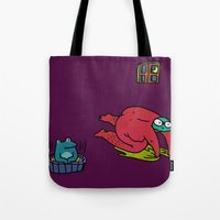 bath Tote Bags featuring Bath by frogandfly