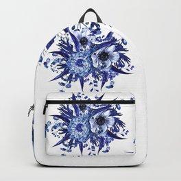 Blue China Porcelain, Flower, Floral Backpack