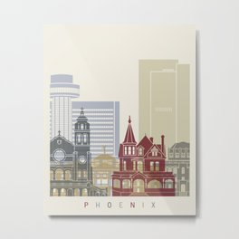 Phoenix skyline poster Metal Print