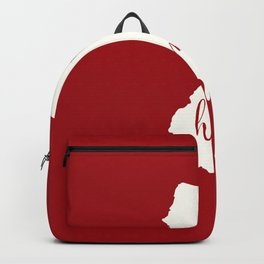 New Jersey is Home - White on Red Backpack