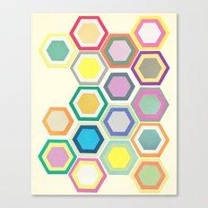 Honeycomb Layers II Canvas Print